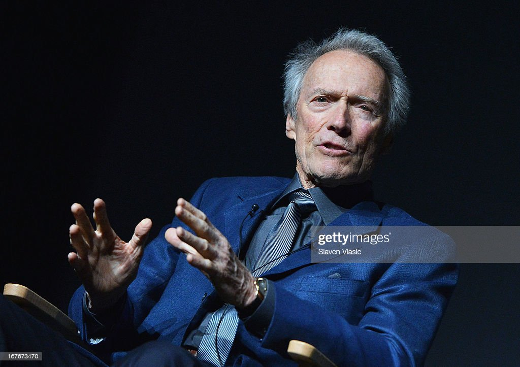 Actor/director <a gi-track='captionPersonalityLinkClicked' href=/galleries/search?phrase=Clint+Eastwood&family=editorial&specificpeople=201795 ng-click='$event.stopPropagation()'>Clint Eastwood</a> attends the 'Tribeca Talks - Directors Series: <a gi-track='captionPersonalityLinkClicked' href=/galleries/search?phrase=Clint+Eastwood&family=editorial&specificpeople=201795 ng-click='$event.stopPropagation()'>Clint Eastwood</a>' during the 2013 Tribeca Film Festival on April 27, 2013 in New York City.