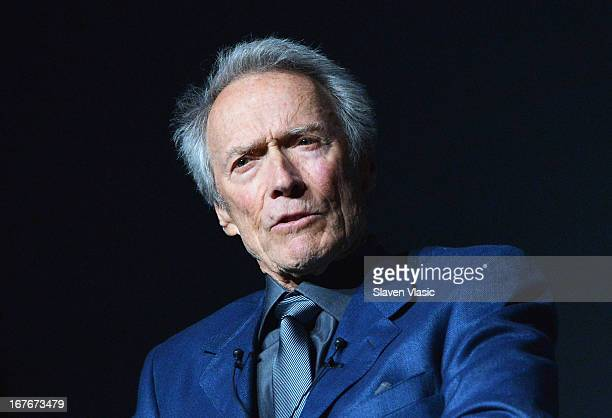 Actor/director Clint Eastwood attends the 'Tribeca Talks Directors Series Clint Eastwood' during the 2013 Tribeca Film Festival on April 27 2013 in...