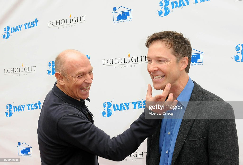 Actor/director Corbin Bernsen and actor George Newbern arrive for the the screening of '3 Day Test' held at Downtown Independent Theater on December 8, 2012 in Los Angeles, California.