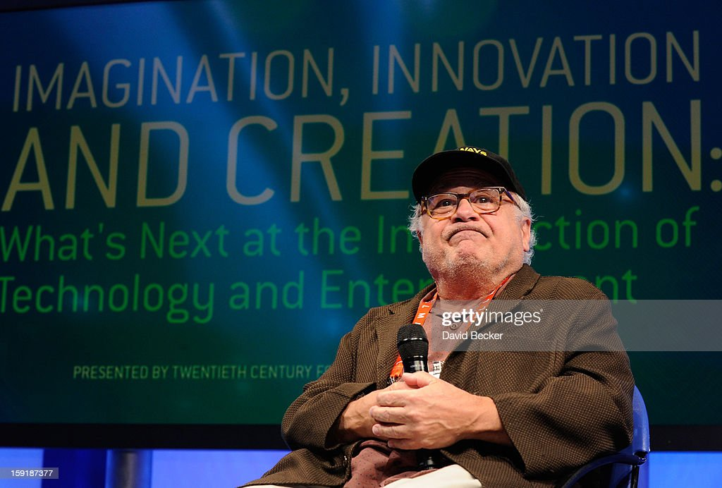 Actor/director Danny DeVito speaks at the Panasonic booth during the 2013 International CES at the Las Vegas Convention Center on January 9, 2013 in Las Vegas, Nevada. CES, the world's largest annual consumer technology trade show, runs through January 11 and is expected to feature 3,100 exhibitors showing off their latest products and services to about 150,000 attendees.