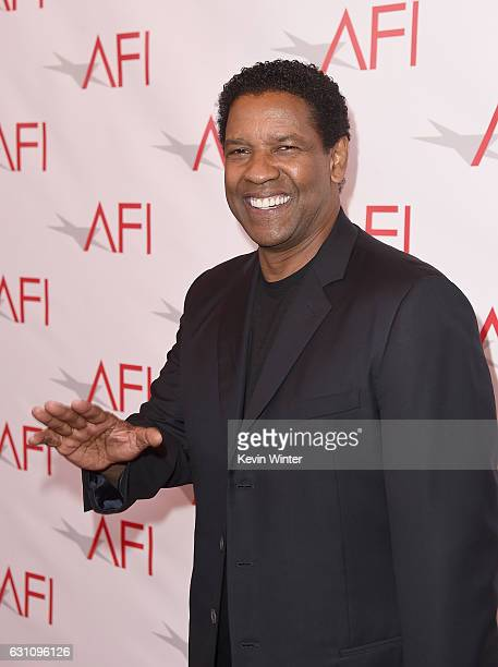 Actor/director Denzel Washington attends the 17th annual AFI Awards at Four Seasons Los Angeles at Beverly Hills on January 6 2017 in Los Angeles...