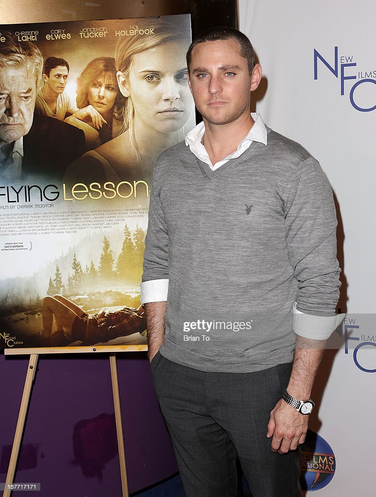 Actor/director Derek Magyar attends the Los Angeles premiere of 'Flying Lessons' at Laemmle Monica 4-Plex on December 5, 2012 in Santa Monica, California.