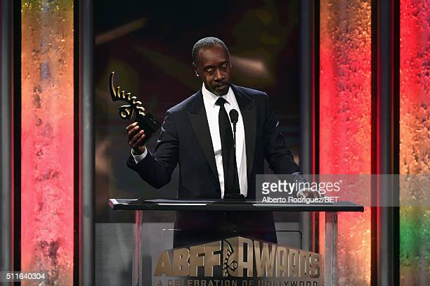 Actordirector Don Cheadle accepts the ABFF Excellence in the Arts Award onstage during the 2016 ABFF Awards A Celebration Of Hollywood at The Beverly...