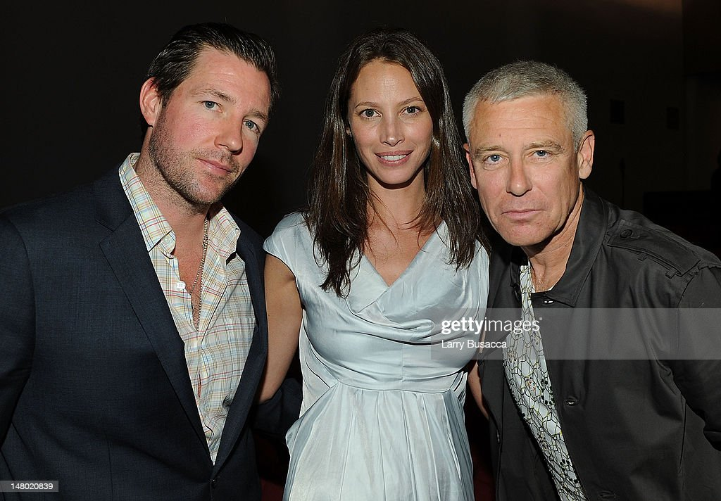 Actor/director Ed Burns model Christy Turlington and musician Adam Clayton attend the New York premiere of 'The Lazarus Effect' at The Museum of...