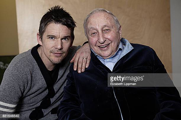 Actor/director Ethan Hawke and pianist Seymour Bernstein are photographed for Boston Globe on February 27 2015 in New York City
