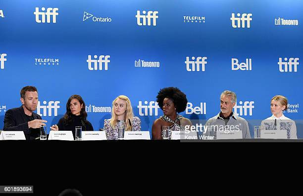 Actor/director Ewan McGregor actors Jennifer Connelly Dakota Fanning Uzo Aduba David Strathairn and Valorie Curry speak onstage at the 'American...