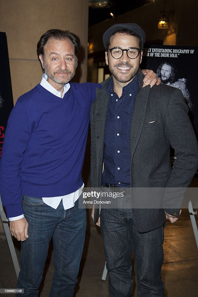 Actor/director Fisher Stevens and actor Jeremy Piven attend a special screening of 'Beware Of Mr Baker' at the Egyptian Theatre on January 23 2013 in...