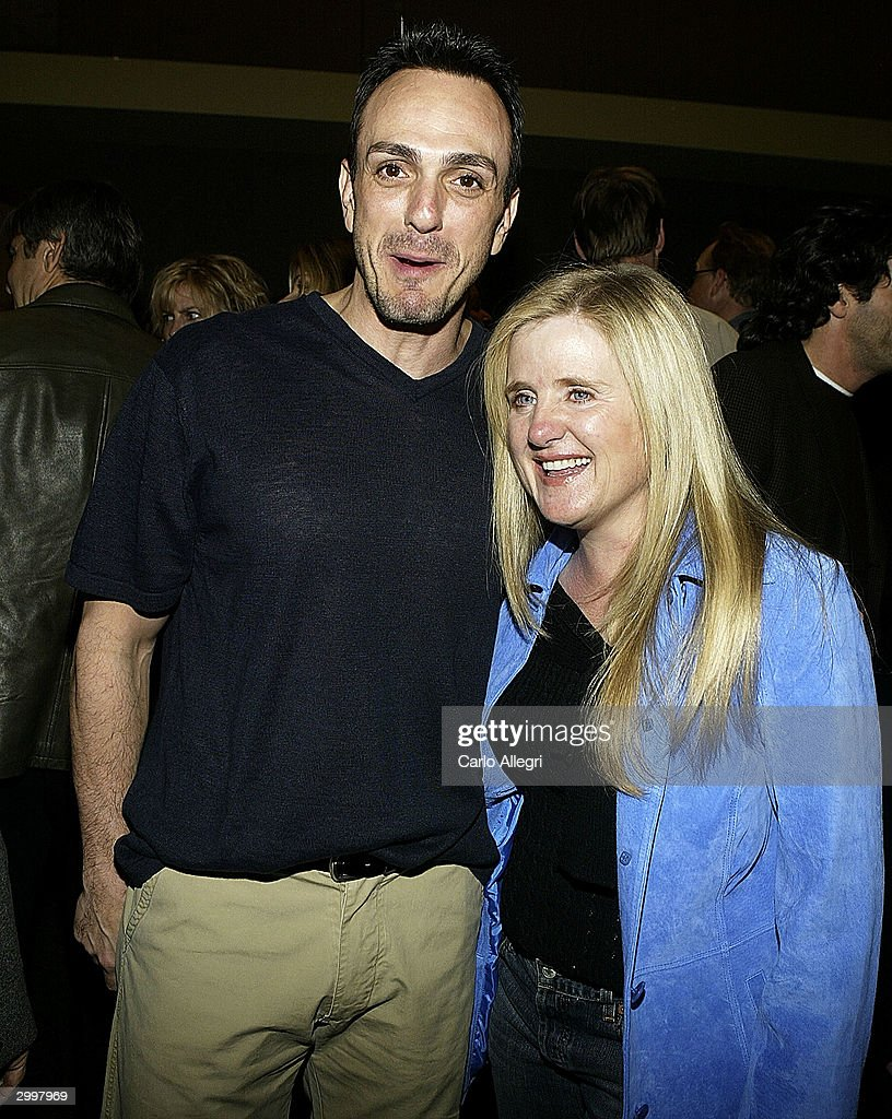 Actor/director Hank Azaria (L) and actor Nancy Cartwright pose for a photo before a screening of 'Nobody's Perfect' at the Writers Guild February 19, 2004 in Los Angeles, California.