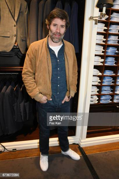 Actor/director Jalil Lespert attends 'Aston Martin by Hackett' Capsule Collection Launch at Hackett Store Capucines on April 26 2017 in Paris France
