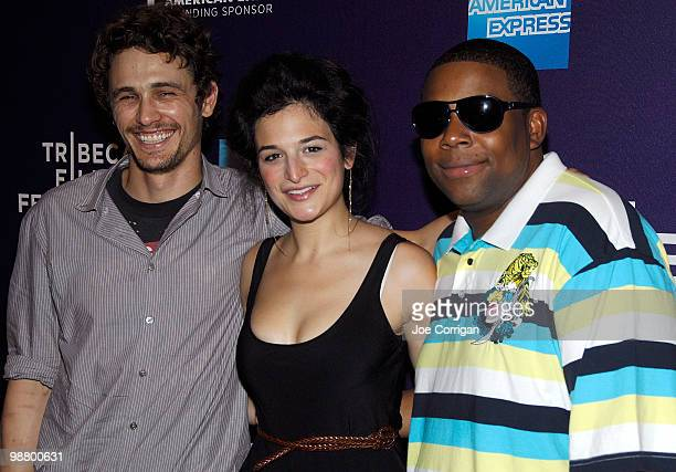 Actor/director James Franco actress/comedienne Jenny Slate and Actor/comedian Kenan Thompson attends the screening of 'Saturday Night' during the 9th...
