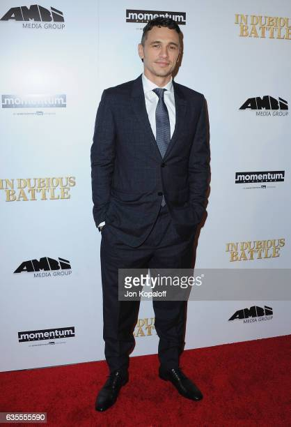 Actor/Director James Franco arrives at the Los Angeles Premiere 'In Dubious Battle' at ArcLight Hollywood on February 15 2017 in Hollywood California