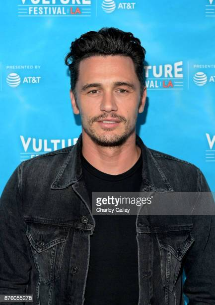 Actor/director James Franco attends the 'Disaster Artist' panel during Vulture Festival LA Presented by ATT at Hollywood Roosevelt Hotel on November...