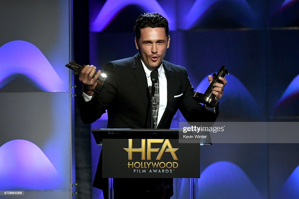Actor/director James Franco speaks onstage during the 21st Annual Hollywood Film Awards at The Beverly Hilton Hotel on November 5, 2017 in Beverly Hills, California.