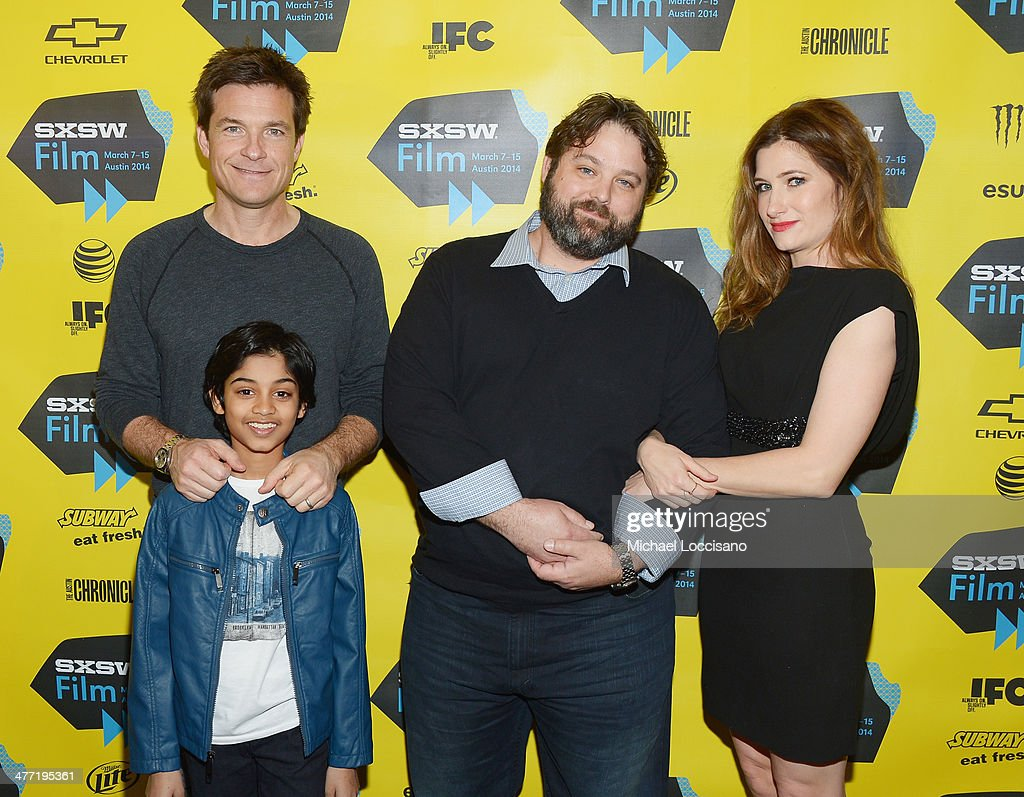Actor/director <a gi-track='captionPersonalityLinkClicked' href=/galleries/search?phrase=Jason+Bateman&family=editorial&specificpeople=204774 ng-click='$event.stopPropagation()'>Jason Bateman</a>, actor Rohan Chand (in front), screenwriter Andrew Dodge and actress <a gi-track='captionPersonalityLinkClicked' href=/galleries/search?phrase=Kathryn+Hahn&family=editorial&specificpeople=221548 ng-click='$event.stopPropagation()'>Kathryn Hahn</a> attend the 'Bad Words' Premiere during the 2014 SXSW Music, Film + Interactive Festival at Topfer Theatre at ZACH on March 7, 2014 in Austin, Texas.