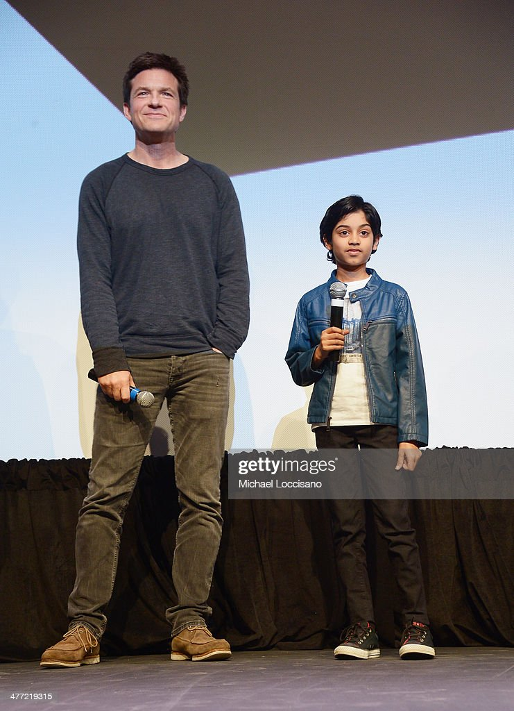 Actor/director <a gi-track='captionPersonalityLinkClicked' href=/galleries/search?phrase=Jason+Bateman&family=editorial&specificpeople=204774 ng-click='$event.stopPropagation()'>Jason Bateman</a> (L) and actor Rohan Chand take part in a Q&A following the 'Bad Words' Premiere during the 2014 SXSW Music, Film + Interactive Festival at Topfer Theatre at ZACH on March 7, 2014 in Austin, Texas.