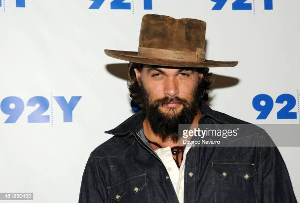 Actor/director Jason Momoa attends An Evening with Jason Momoa and Thelma Adams at 92nd Street Y on July 8 2014 in New York City