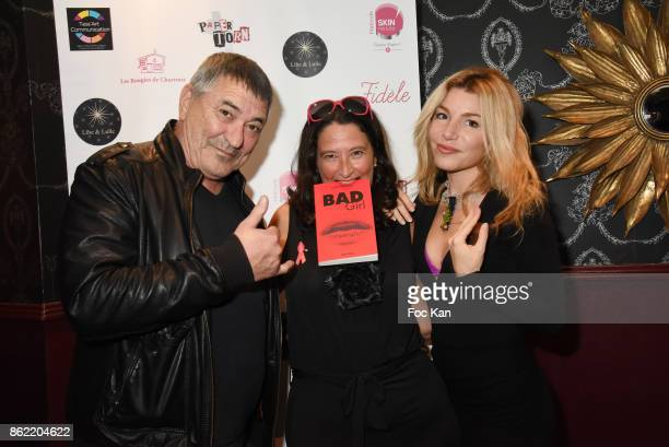 Actor/director Jean Marie Bigard PR Esther Meyniel and actress Lola Marois attend the 'Souffle de Violette' Auction Party As part of 'Octobre Rose'...