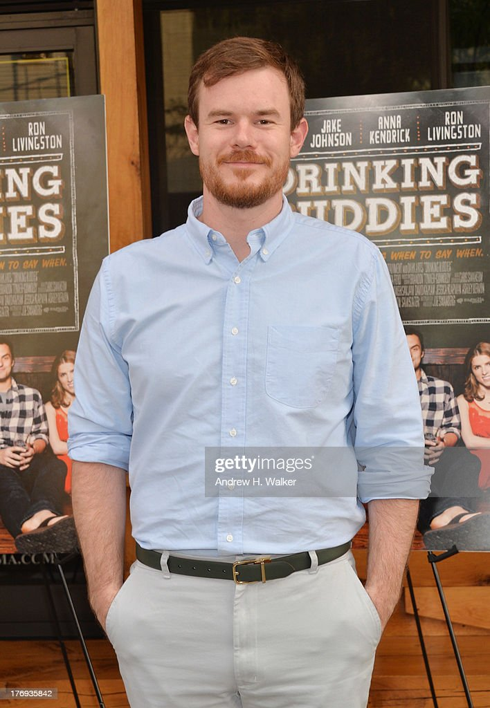 Actor/director Joe Swanberg attends the 'Drinking Buddies' screening at Nitehawk Cinema on August 19, 2013 in the Brooklyn borough of New York City.
