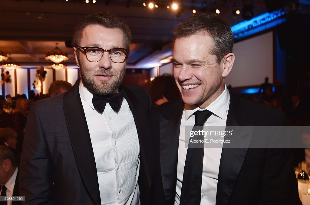Actor/director Joel Edgerton and actor Matt Damon attend the 68th Annual Directors Guild Of America Awards at the Hyatt Regency Century Plaza on...