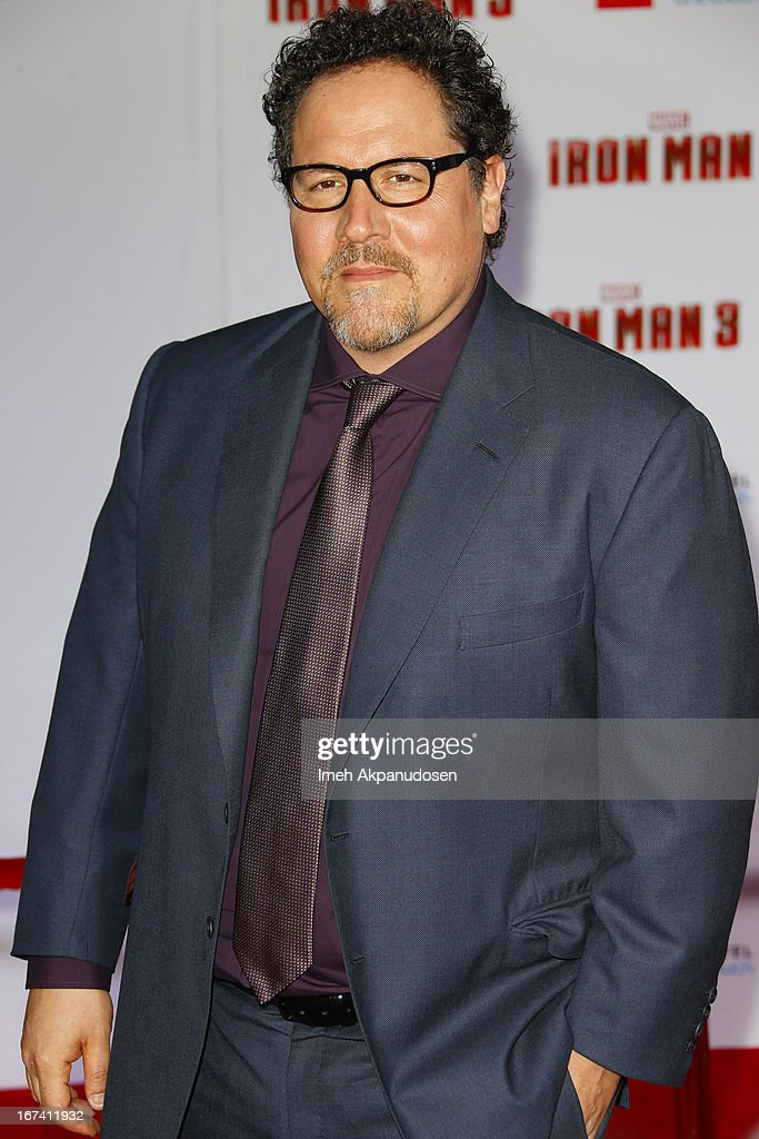 Actor/director Jon Favreau attends the premiere of Walt Disney Pictures' 'Iron Man 3' at the El Capitan Theatre on April 24, 2013 in Hollywood, California.