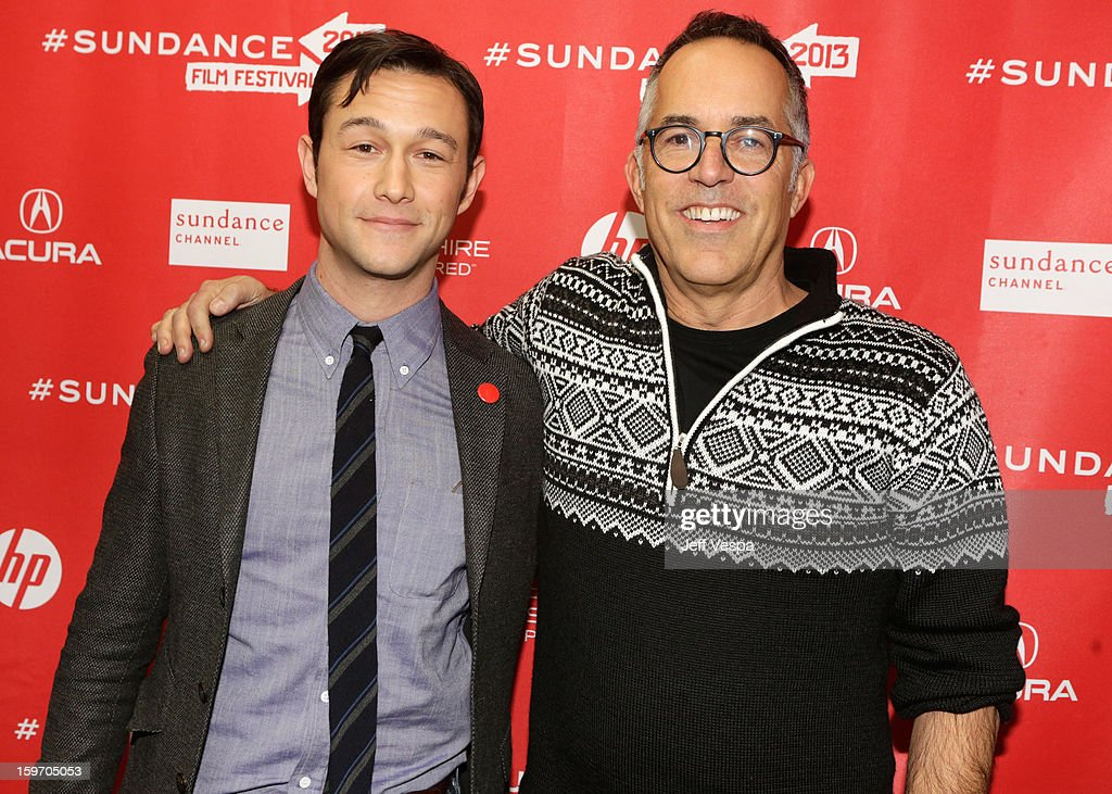 Actor/director <a gi-track='captionPersonalityLinkClicked' href=/galleries/search?phrase=Joseph+Gordon-Levitt&family=editorial&specificpeople=213632 ng-click='$event.stopPropagation()'>Joseph Gordon-Levitt</a> (L) and Director of the Sundance Film Festival John Cooper attend 'Don Jon's Addiction' Premiere during the 2013 Sundance Film Festival at Eccles Center Theatre on January 18, 2013 in Park City, Utah.