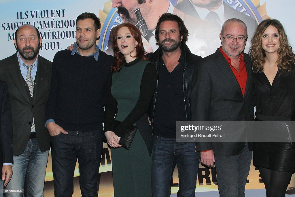 Actor/director Kad Merad, actor Laurent Lafitte, actress Audrey Fleurot, producer Cyril Colbeau-Justin, actor/director Olivier Baroux and actress Laurence Arne attend the Paris Premiere of the movie 'Mais Qui A Re Tue Pamela Rose', at Cinema Gaumont Marignan on December 2, 2012 in Paris, France.