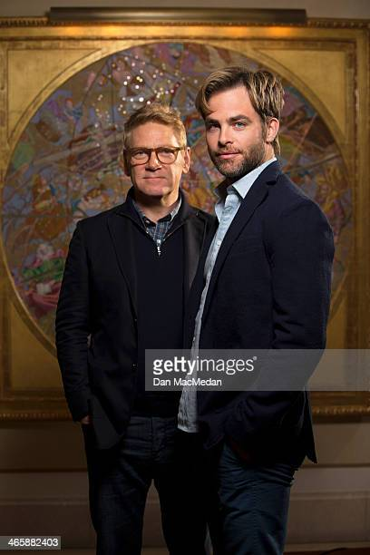 Actor/director Kenneth Branagh and actor Chris Pine are photographed for USA Today on January 10 2014 in Beverly Hills California PUBLISHED IMAGE
