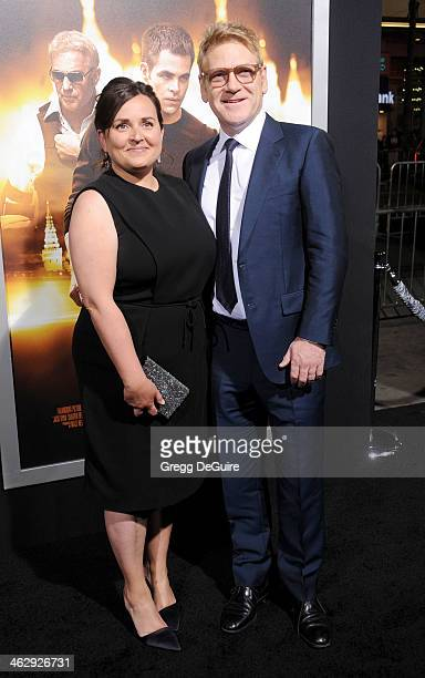Actor/director Kenneth Branagh and Lindsay Brunnock arrive at the Los Angeles premiere of 'Jack Ryan Shadow Recruit' at TCL Chinese Theatre on...
