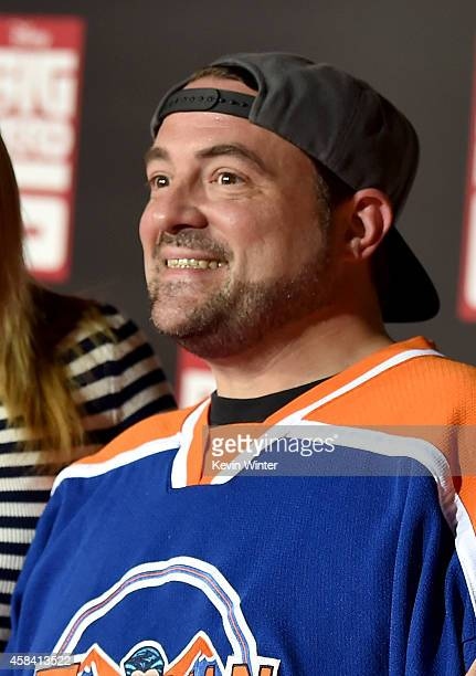 Actor/director Kevin Smith attends the premiere of Disney's 'Big Hero 6' at the El Capitan Theatre on November 4 2014 in Hollywood California