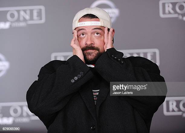 Actor/director Kevin Smith attends the premiere of 'Rogue One A Star Wars Story' at the Pantages Theatre on December 10 2016 in Hollywood California
