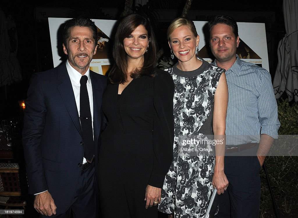 Actor/director Leland Orser, actress Jeanne Tripplehorn, actress Elizabeth Banks and producer Max Handelman attend C Magazine Dinner And Reception Celebrating Leland Orser's 'Morning' held at Chateau Marmont on September 26, 2013 in West Hollywood, California.