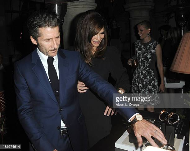 Actor/director Leland Orser and actress Jeanne Tripplehorn attend C Magazine Dinner And Reception Celebrating Leland Orser's 'Morning' held at...