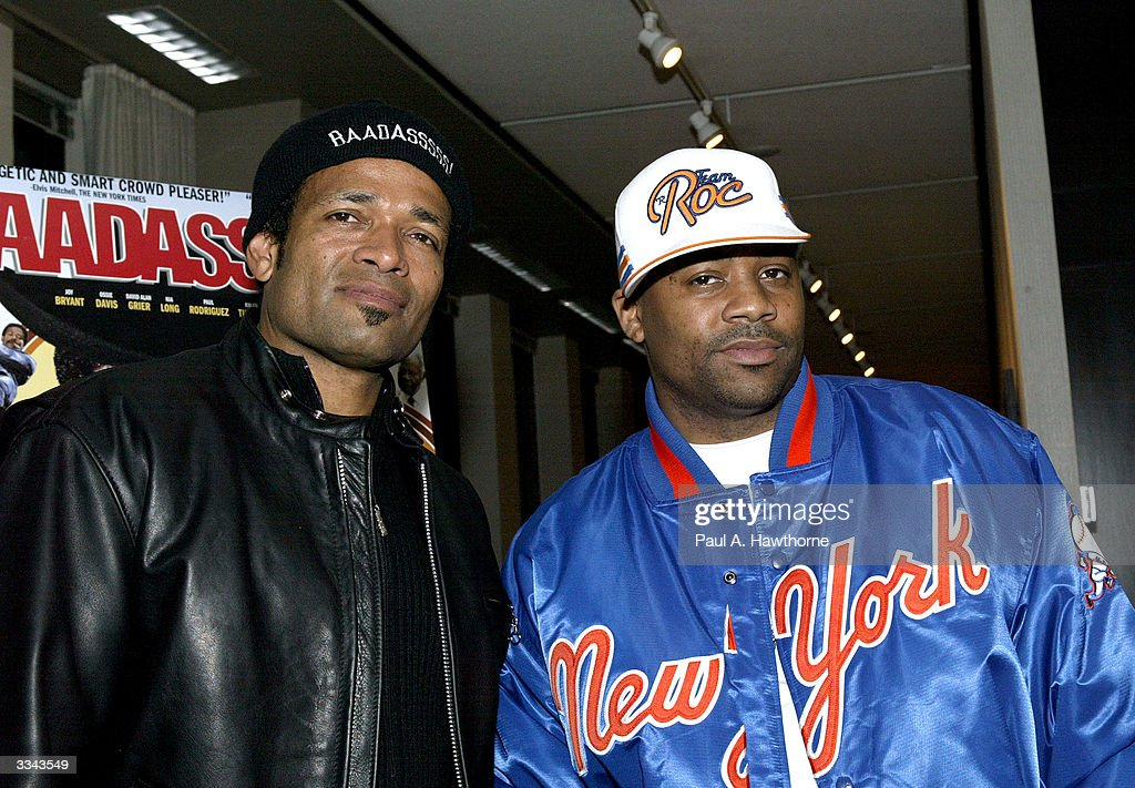 Actor/Director Mario Van Peebles and CEO of Roc-A-Fella Records/Rocawear Damon Dash attend a viewing of 'Baadasssss!' at the Sony Screening Room, April 12, 2004 in New York City.