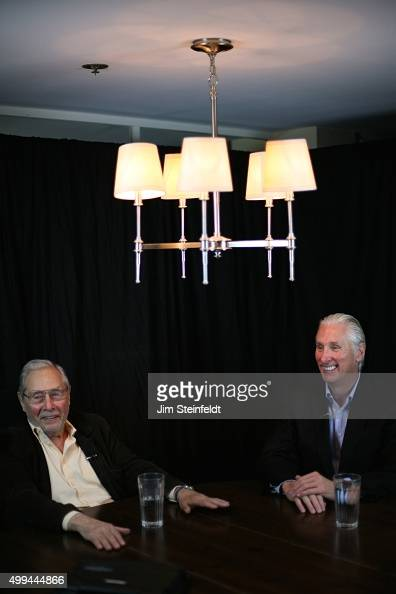 Actor/Director Mark Rydell and Author/Publicist Michael Levine in Santa Monica California on November 19 2015