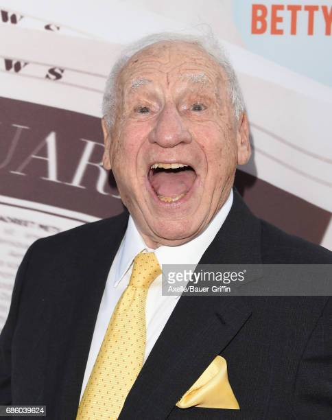 Actor/director Mel Brooks arrives at the premiere of HBO's 'If You're Not In The Obit Eat Breakfast' at Samuel Goldwyn Theater on May 17 2017 in...