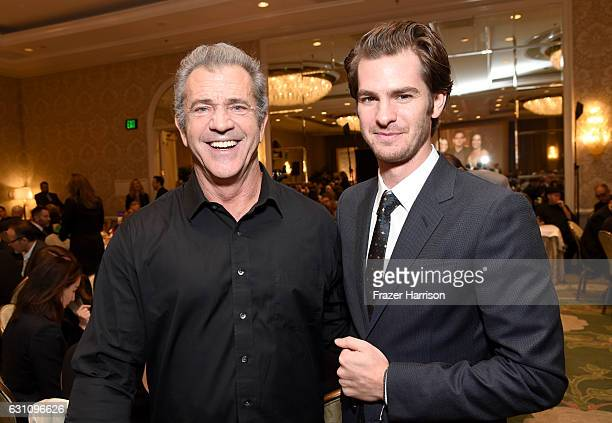 Actor/director Mel Gibson and actor Andrew Garfield attend the 17th annual AFI Awards at Four Seasons Los Angeles at Beverly Hills on January 6 2017...