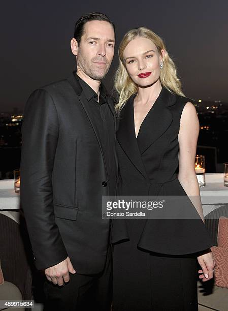 Actor/director Michael Polish and actress Kate Bosworth attend a cocktail event hosted by Dior Homme's Kris Van Assche at Chateau Marmont on...