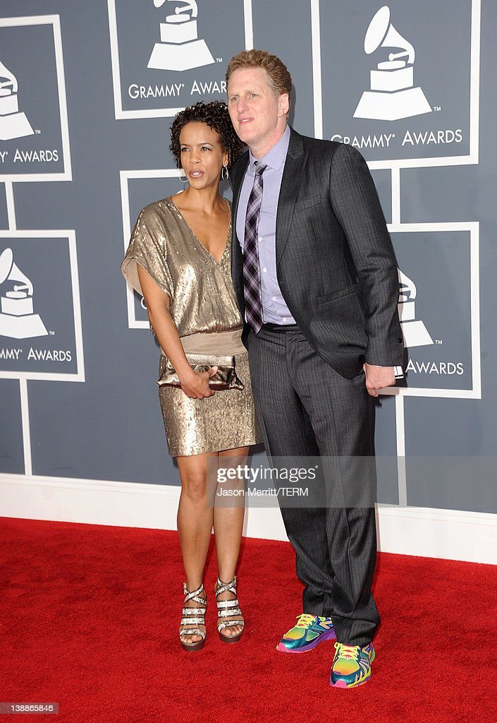 Actor/Director Michael Rapaport (R) and guest arrive at the 54th Annual GRAMMY Awards held at Staples Center on February 12, 2012 in Los Angeles, California.