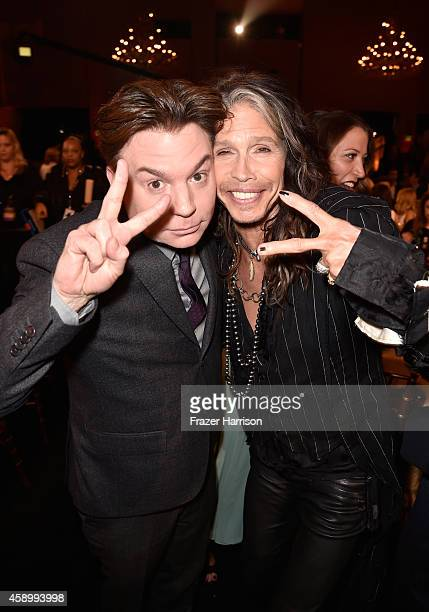 Actor/director Mike Myers and musician Steven Tyler attend the 18th Annual Hollywood Film Awards at The Palladium on November 14 2014 in Hollywood...