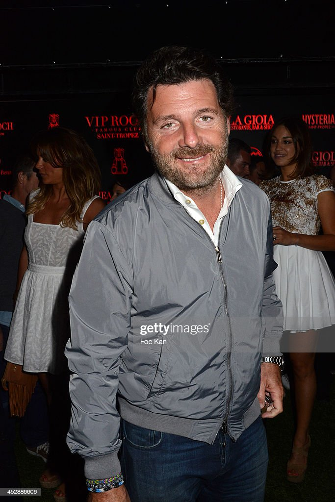 Actor/director Philippe Lellouche attends the DJ Canitrot Party VIP Room Saint Tropez July 28, 2014 in Saint Tropez, France.