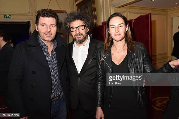 Actor/director Philippe Lellouche director Radu Mihaileanu and actress Vanessa DemouyÊattend the 'Star Wars Episode VII The Force Awakens' Screening...