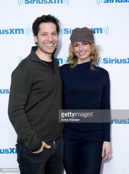 Actor/Director Richie Keen and Actress Brianna Brown visit SiriusXM Studios on February 15 2017 in New York City