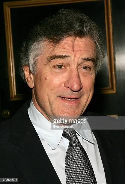 Actor/director Robert De Niro attend the World Premiere of 'The Good Shepherd' presented by Universal Pictures at the Ziegfeld Theatre on December 11...