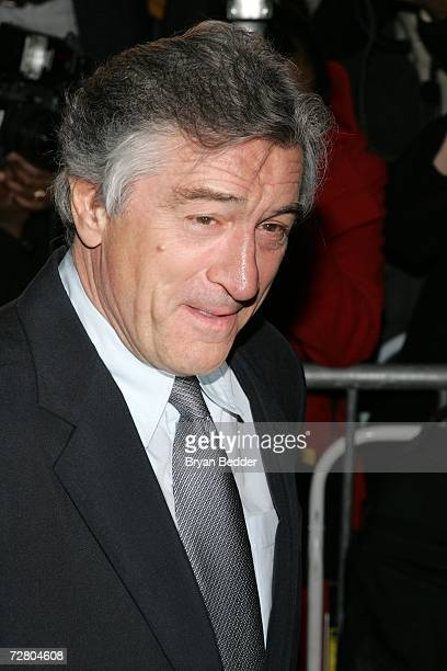 Actor/director Robert De Niro attends the World Premiere of 'The Good Shepherd' presented by Universal Pictures at the Ziegfeld Theatre on December...
