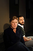 Actor/director Robert Redford and actor Shia LaBeouf are photographed for Los Angeles Times on April 1 2013 in New York City PUBLISHED IMAGE
