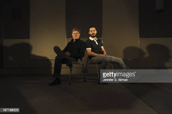 Actor/director Robert Redford and actor Shia LaBeouf are photographed for Los Angeles Times on April 1 2013 in New York City