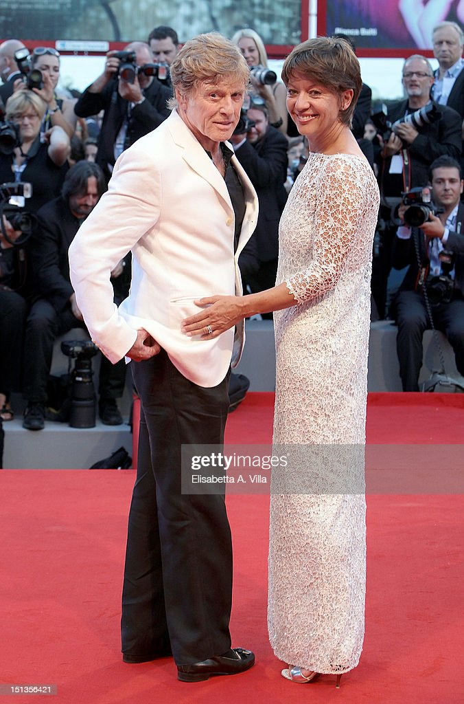 Actor/Director Robert Redford and his wife Sibylle Szaggars attend 'The Company You Keep' Premiere at the 69th Venice Film Festival at the Palazzo...