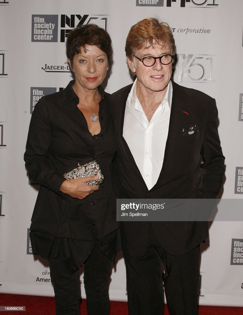 Actor/director <a gi-track='captionPersonalityLinkClicked' href=/galleries/search?phrase=Robert+Redford&family=editorial&specificpeople=202897 ng-click='$event.stopPropagation()'>Robert Redford</a> (R) and wife <a gi-track='captionPersonalityLinkClicked' href=/galleries/search?phrase=Sibylle+Szaggars&family=editorial&specificpeople=2691729 ng-click='$event.stopPropagation()'>Sibylle Szaggars</a> attend the 'All Is Lost' Premiere during the 51st New York Film Festival at Alice Tully Hall at Lincoln Center on October 8, 2013 in New York City.