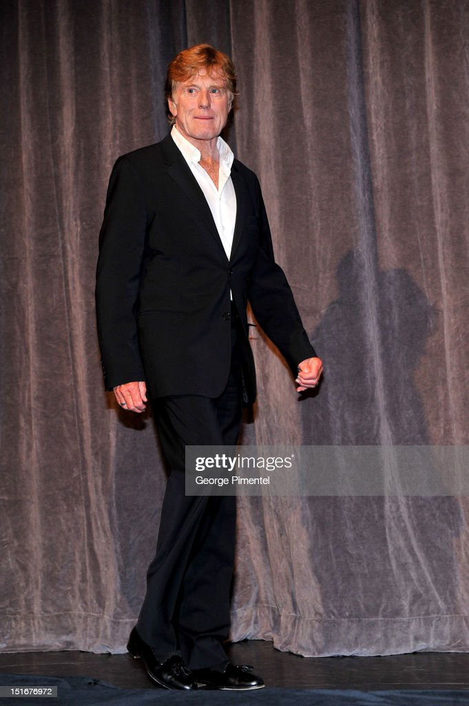 Actor/director Robert Redford onstage at 'The Company You Keep' Premiere at the 2012 Toronto International Film Festival at Roy Thomson Hall on...