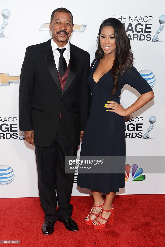 Actor/Director Robert Townsend and daughter Skye Townsend arrive at the 44th NAACP Image Awards held at The Shrine Auditorium on February 1, 2013 in Los Angeles, California.